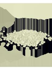 Perles de pluie Ivoire 2-4mm (60g)