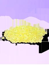 Perles de pluie Jaune 2-4mm (60g)