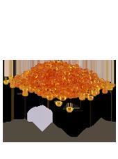 Perles de pluie Orange 2-4mm (60g)