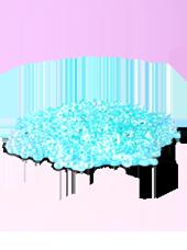 Perles de pluie Turquoise 2-4mm (60g)