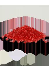 Perles de pluie Rouge 2-4mm (60g)