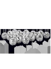 Boules Disco Argent 20mm (90g)