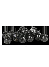 Boules Disco Noires 20mm (90g)