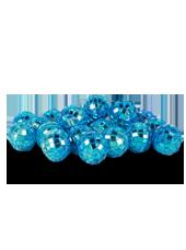 Boules Disco Bleues 20mm (90g)