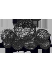Assortiment de 10 boules Noires en Alu tressé (80g)