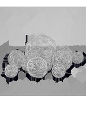 Assortiment de 10 boules Argent en Alu tressé (80g)