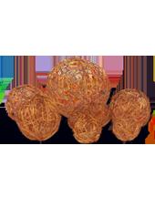 Assortiment de 10 boules Chocolat en Alu tressé (80g)