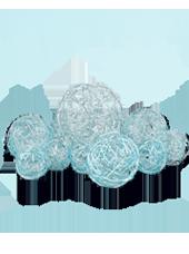Assortiment de 10 boules Turquoise en Alu tressé (80g)