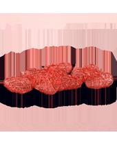 Coeurs Rouges en Alu tressé 45mm x7