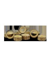 Anneaux de bambous déco 3-4cm (60g)