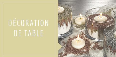 Bougies pour déco de table