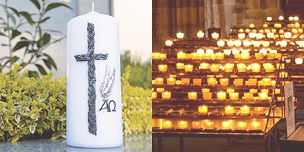 Bougies et Cierges pour Baptêmes, Communions