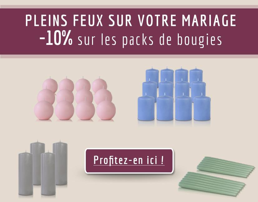10% sur TOUS les packs de bougies !